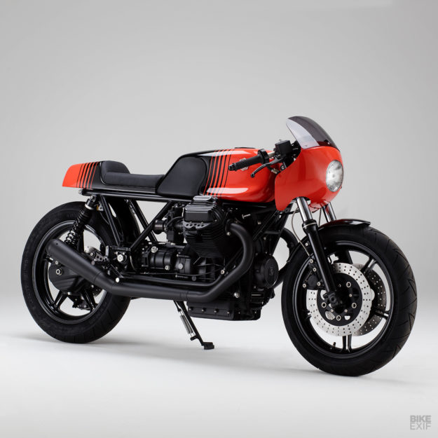 Moto Guzzi Le Mans cafe racer with Porsche paint by Kaffeemaschine