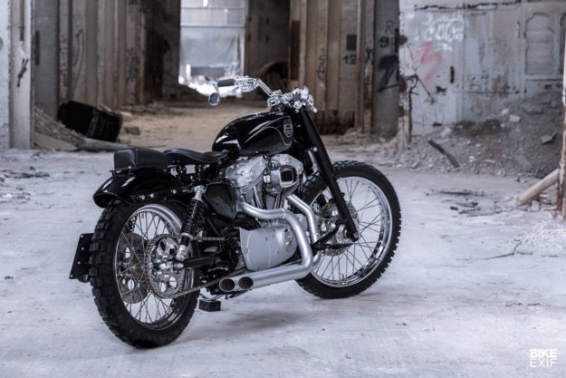 Custom Harley-Davidson Sportster scrambler built for Google Switzerland boss Patrick Warnking