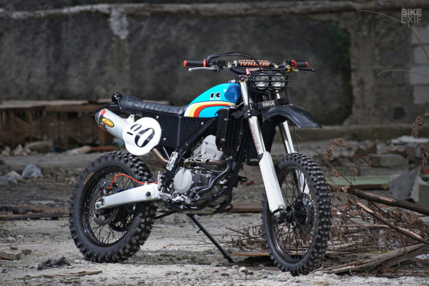 Knuckle WhackJob gives the KLX250 a Vintage Enduro Vibe