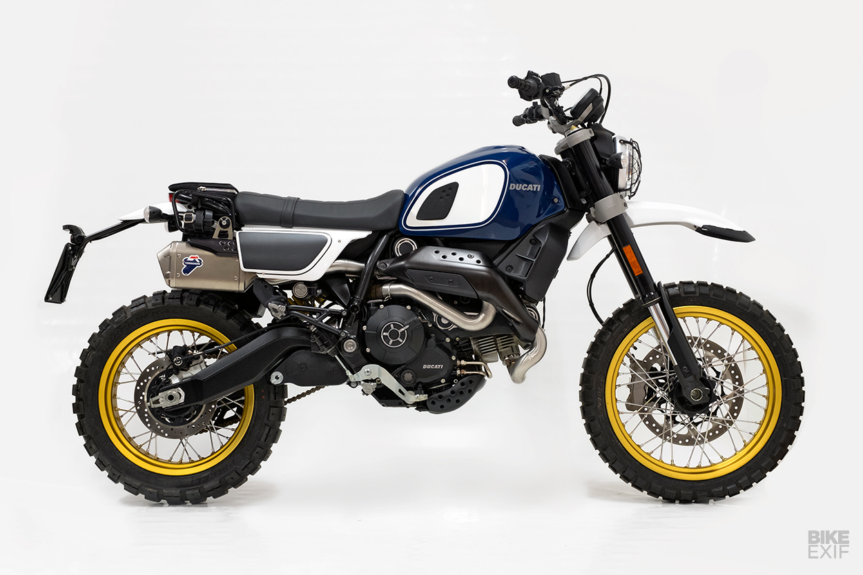 outsider hardening up the ducati scrambler desert sled bike exif. Black Bedroom Furniture Sets. Home Design Ideas