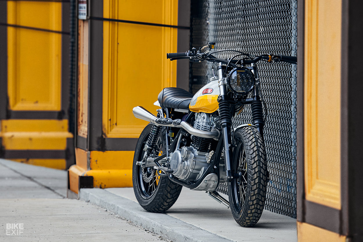 Yamaha SR500 scrambler built by Daniel Peter