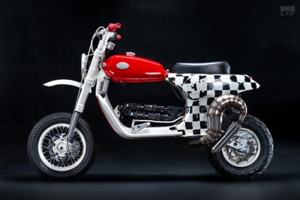 An insane custom Vespa PX 150 scooter from Butcher Garage of Russia