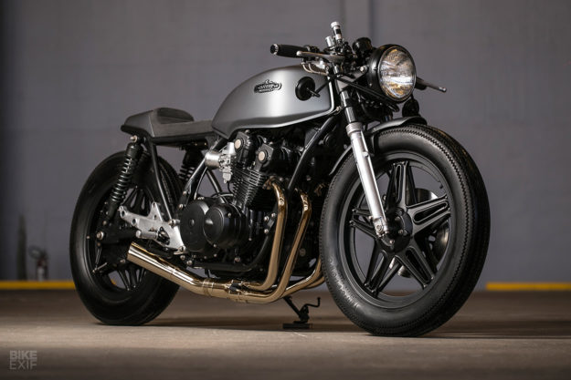A Honda CB750 cafe racer from Caffeine Custom of Brazil