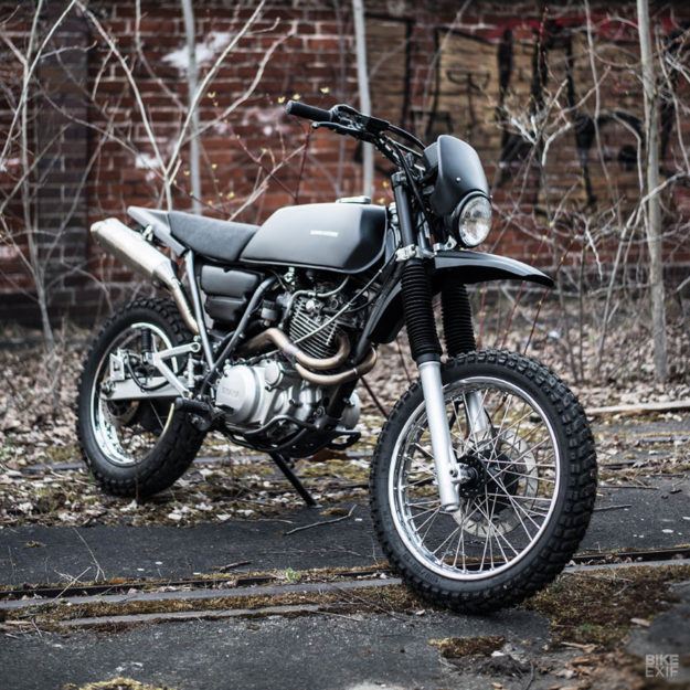A discreetly modified 2002 Yamaha XT 600 by Berham Customs