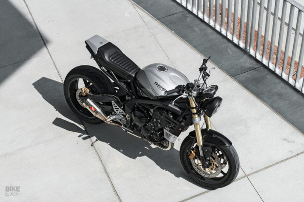 A sharp new suit for the Triumph Street Triple by Redeemed Cycles