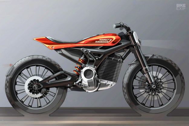Harley small electric motorcycle concept