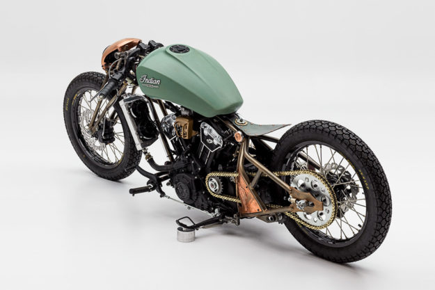 Indian Scout Bobber Buildoff winner by Alfredo Juarez