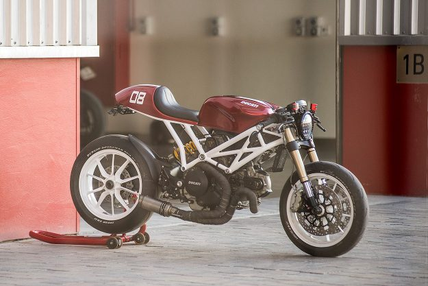 Ducati Monster 1100 EVO cafe racer by Marc Roissetter
