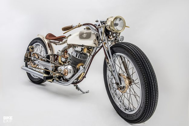 Jackson Burrows' award-winning vintage Harley-Davidson Super 10