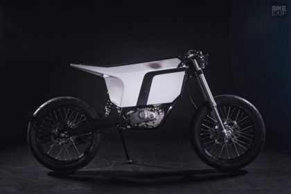 A custom KTM electric bike built by Urban Motor for Schuberth