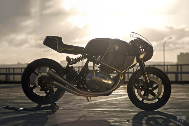 The new Royal Enfield Continental GT, customized by Rough Crafts