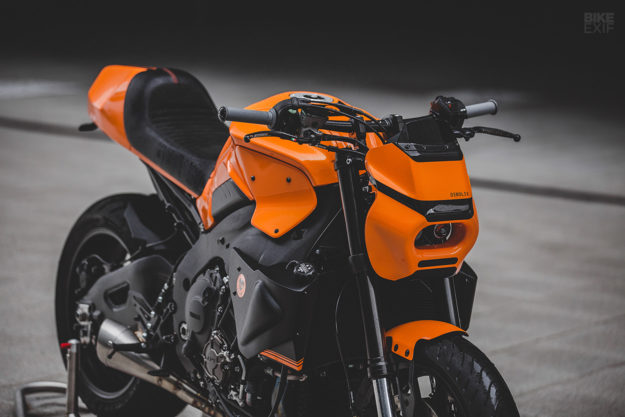 A McLaren Orange custom Yamaha MT-10 from deBolex