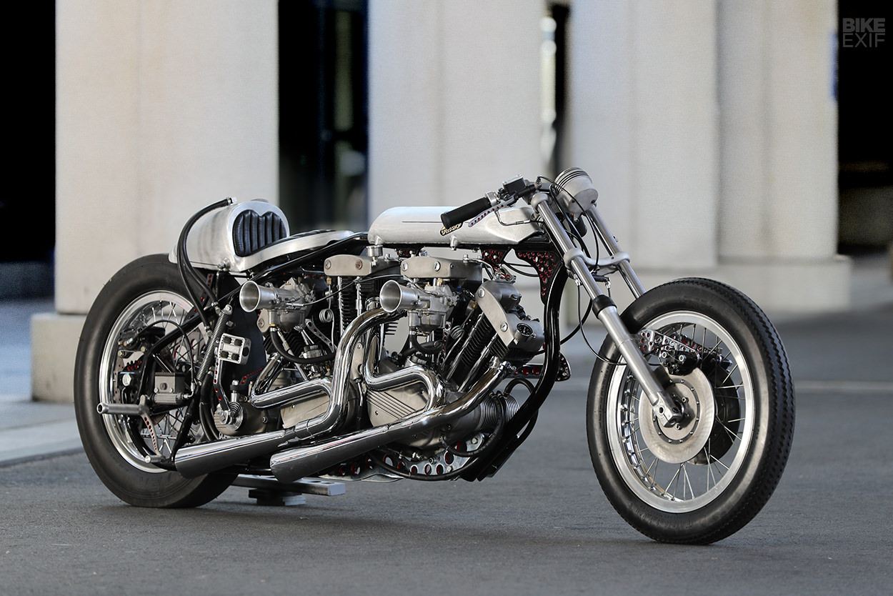 Twin-engined Harley drag bike by Hotchop Speed Shop of Japan
