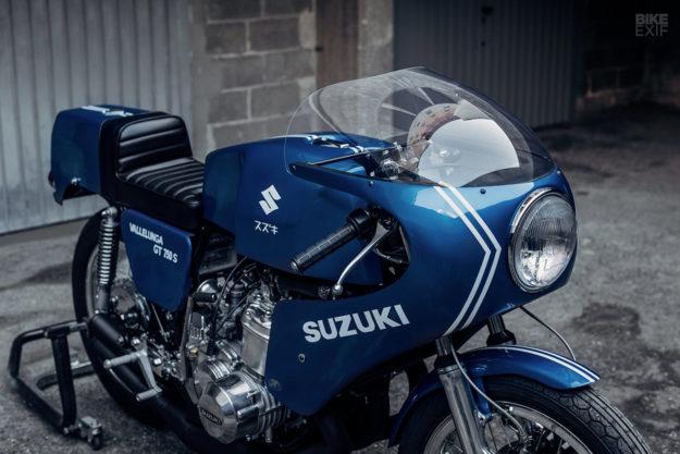 A Suzuki-SAIAD GT750 S Vallelunga restored by Soiatti Moto Classiche