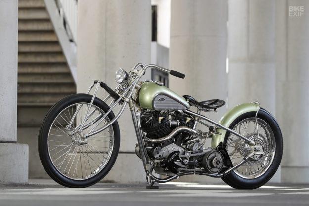 Custom knucklehead hardtail built for the Mooneyes Japan show by Asterisk