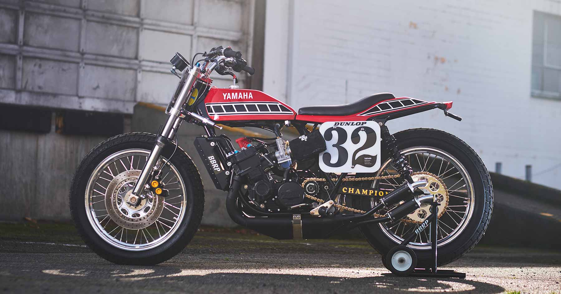 This scary TZ750 flat track racer is also street legal