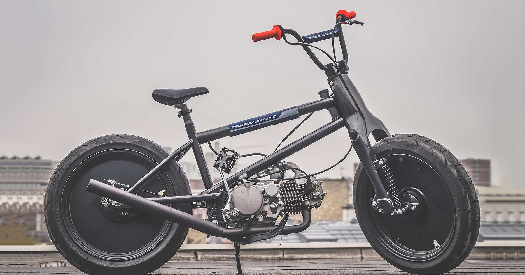 Crossbreed: A Cub x BMX hybrid with a motorcycle engine