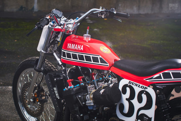 This Yamaha TZ750 flat track racer is also street legal