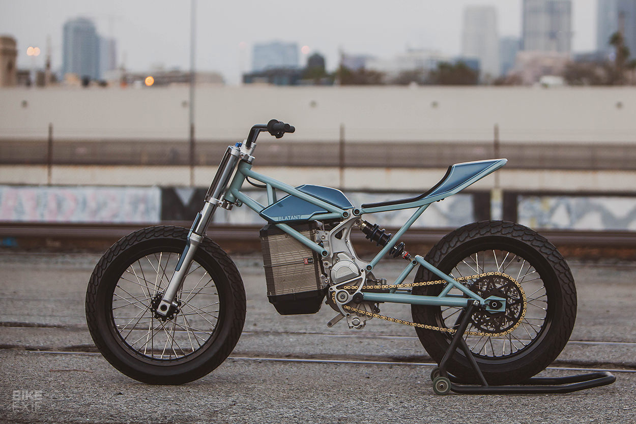 Electric flat tracker by ex Alta designers at Blatant Moto