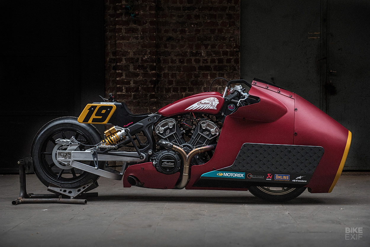 Drag Bike: A 135 hp, nitrous-fueled Indian Scout Bobber from Workhorse