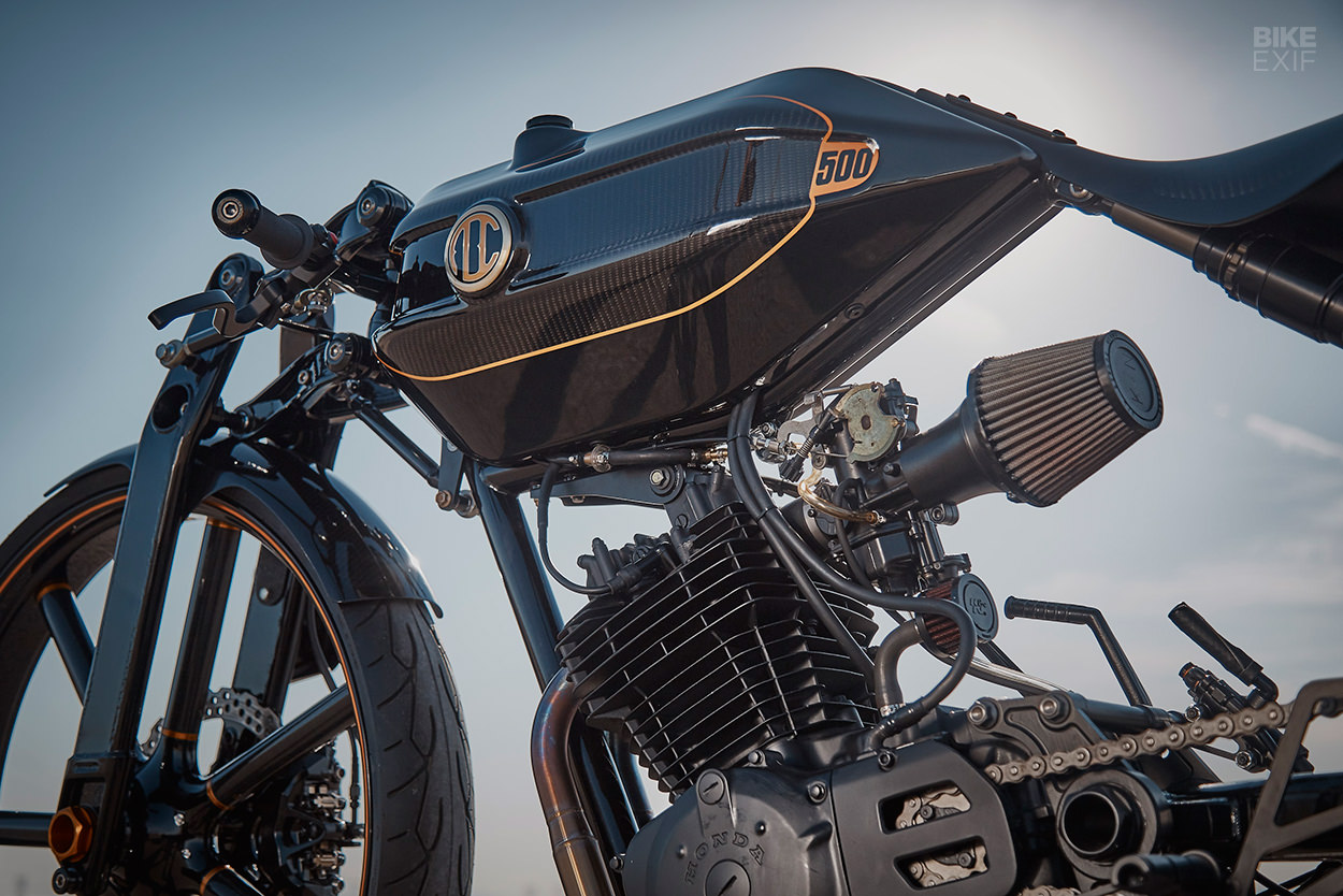 The Honda XL500 boardtracker that won two awards at The Quail in 2019