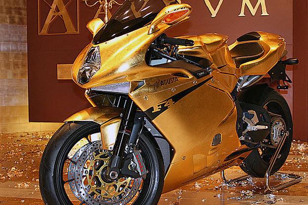 Gold-plated MV Agusta