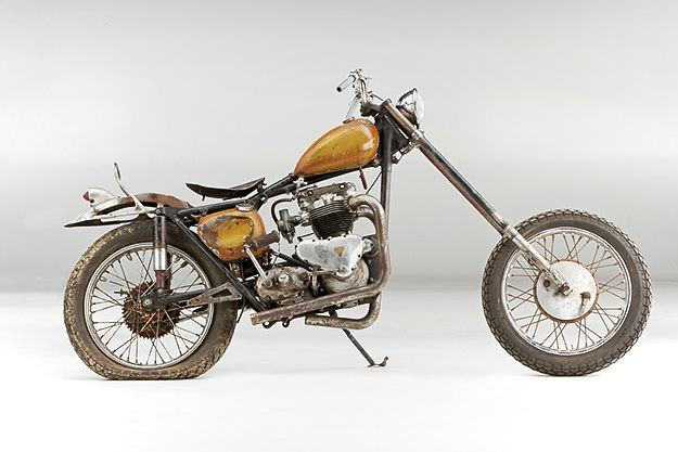 1957 Triumph Tiger 650 custom motorcycle by Von Dutch