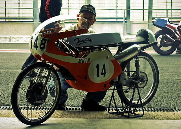 Paul Lodewijkx's 1968 Jamathi 50 racing motorcycle