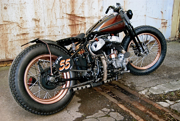 Harley WLC custom motorcycle by James Roper-Caldbeck