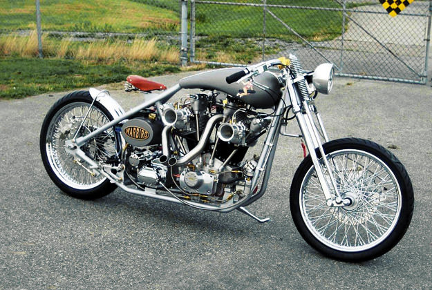 Warbird: A motorcycle with an airplane engine