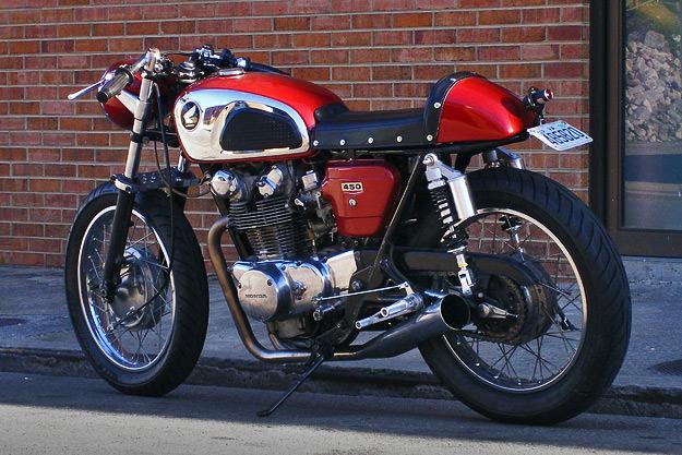 Honda CB450 cafe racer by Slingshot Cycles