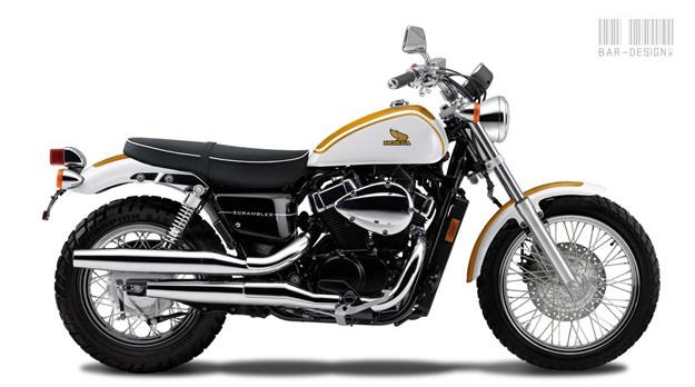 Honda VT750 custom motorcycle concept