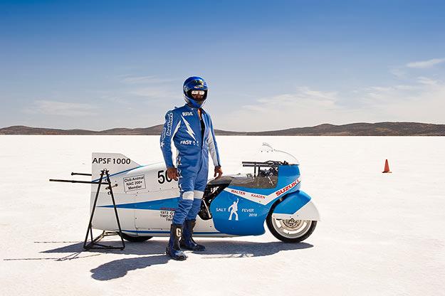 Speedweek land speed record motorcycle