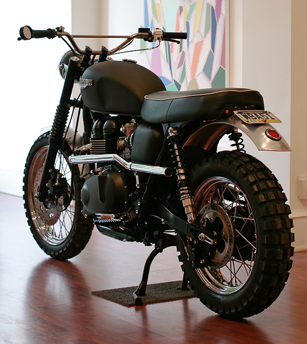 Triumph T100 Scrambler custom motorcycle