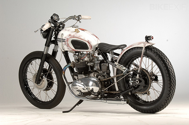 1971 Triumph Tiger T100 bobber by Grease Monkey