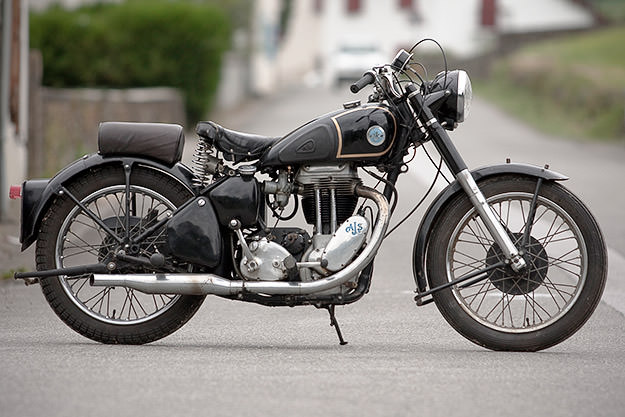 AJS 18 classic motorcycle