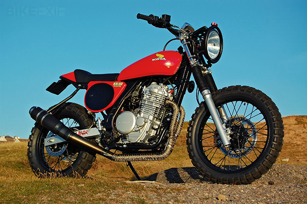 Honda NX650 Dominator custom by Andrew Greenland