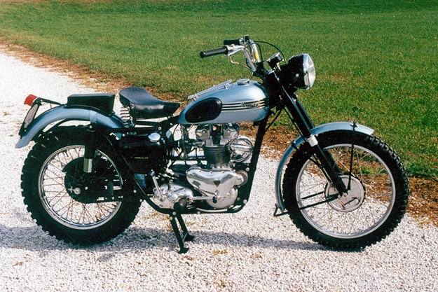 Is this 1955 Triumph Trophy James Dean's motorcycle?