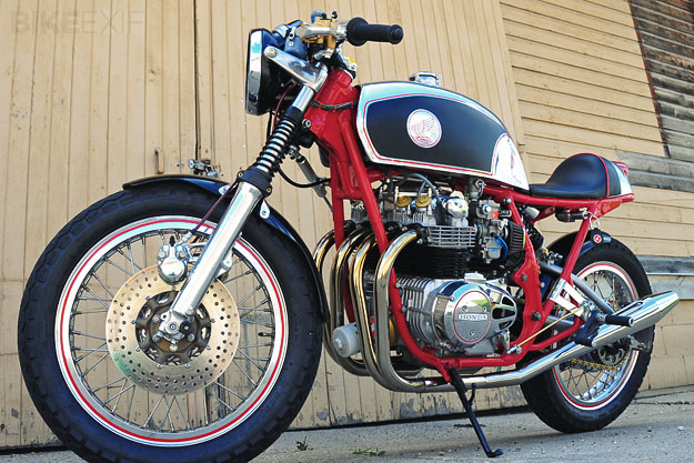 Honda CB550 cafe racer by Godffery's Garage.