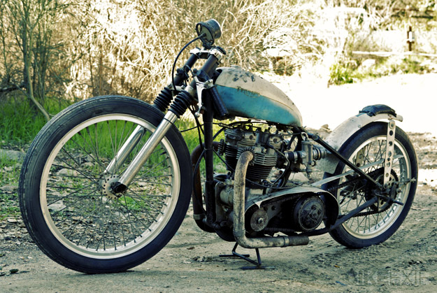 Triumph Bonneville custom motorcycle: Salt Ghost