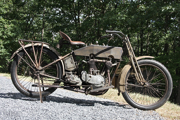Vintage Harley restored for the Motorcycle Cannonball