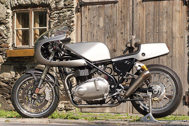 Triumph Bonneville cafe racer by Norman Hyde and Britalmoto