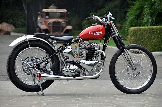 Triumph Thunderbird drag bike by Bobby Sirkegian