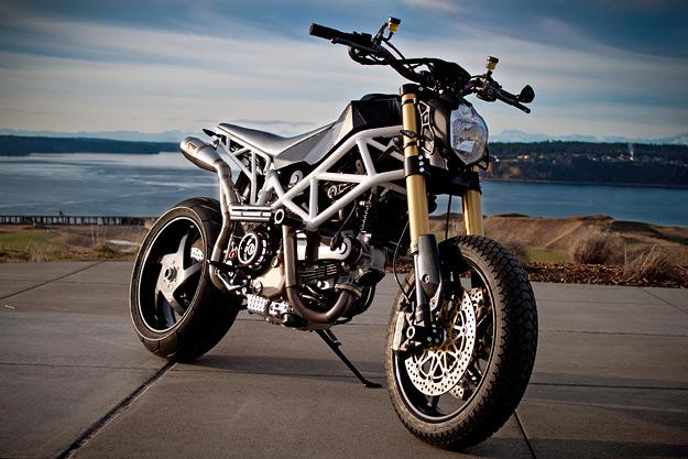 A to B weapon: Ducati Hypermotard custom by Michel Vis