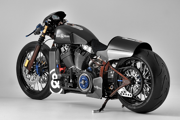 Custom Harley-Davidson Softail built for watch brand Bell & Ross.