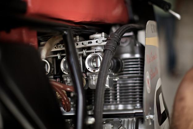 An exquisite Honda CR 750 replica