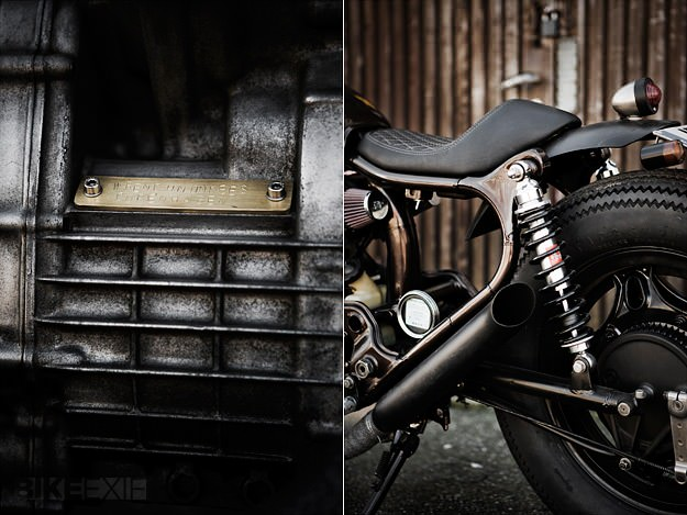 The Wrenchmonkees' customized Honda CX500.