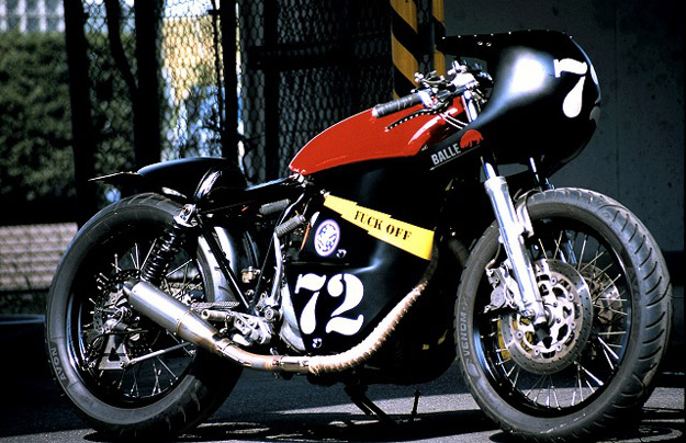 Yamaha cafe racer by the Japanese workshop An-Bu.