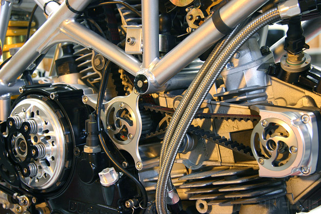 Custom Ducati with Gulf Oil livery by Johann Keyser