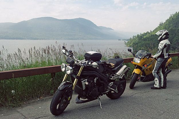 Lake George, NY by motorcycle